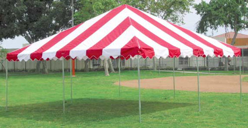 20'x20' Red and White Canopy
