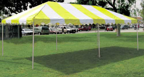 10'x20' Yellow and White Canopy
