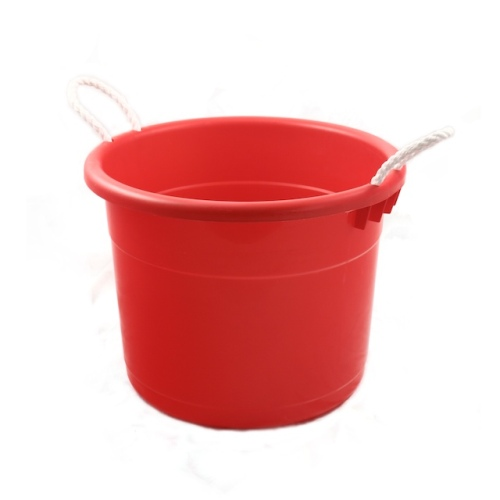 <br />Plastic Ice Tub with Rope Handles