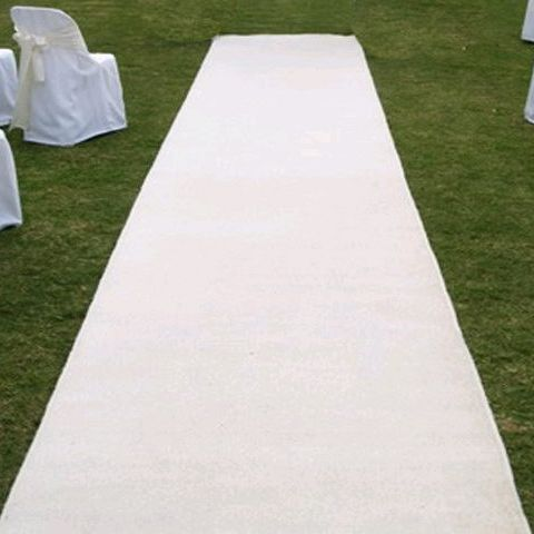 Aisle Runner - White Cloth