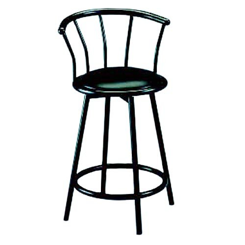 Bar Stool with Back - Black