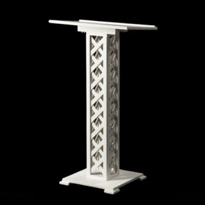Guest Book Stand - White Wood Lattice