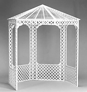 Gazebo - White Wood Lattice