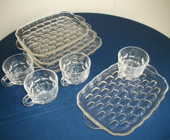 Glass Snack Set - Cup and Tray