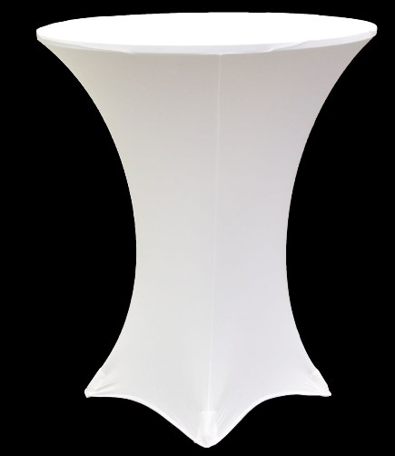 Bar Height Table with Spandex Cover