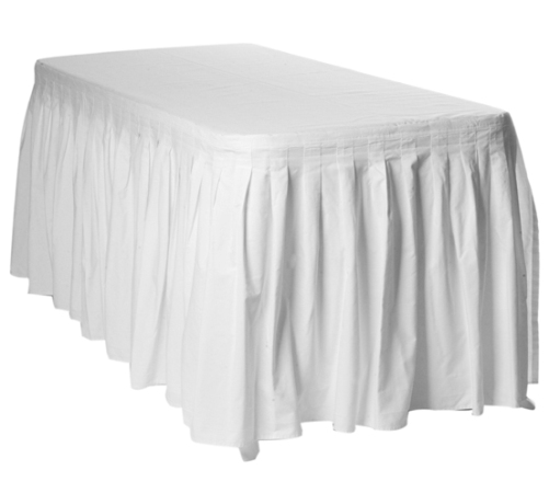 Table with White Skirting