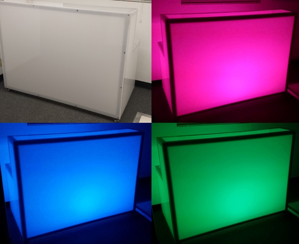 5' Frosted Plexiglass Bar with LED Lighting