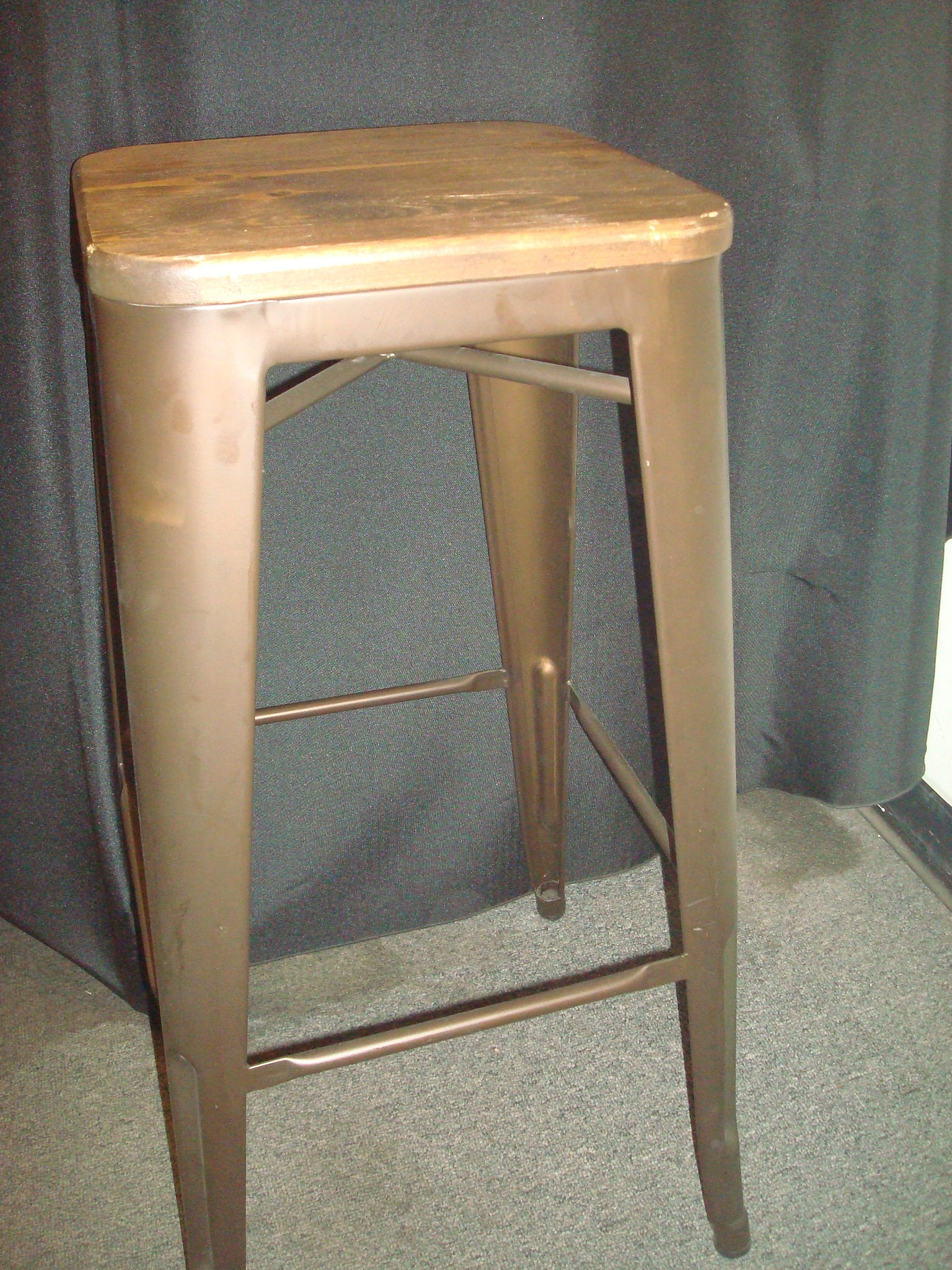 Bar stool Rustic with Wood seat